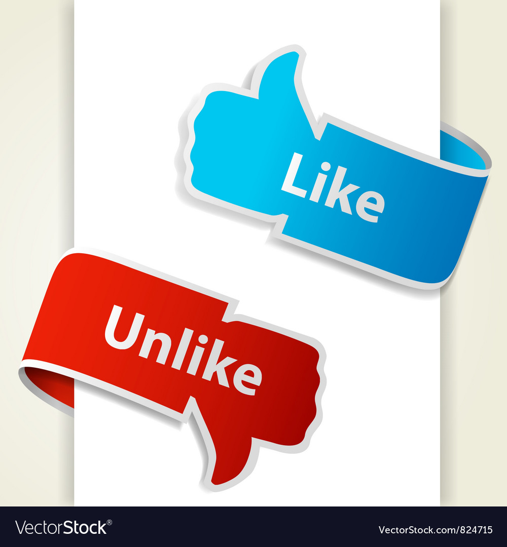 Like and unlike icons vector   Price: 1 Credit (USD $1)