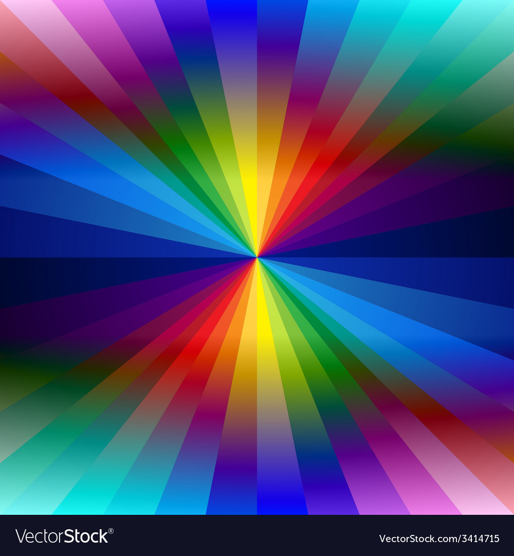 Rainbow colorful kaleidoscope background vector | Price: 1 Credit (USD $1)