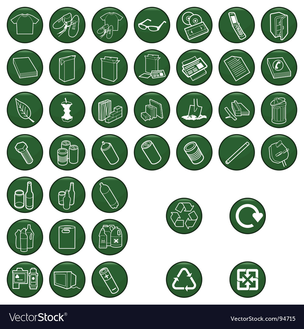 Recycle material icons vector | Price: 1 Credit (USD $1)