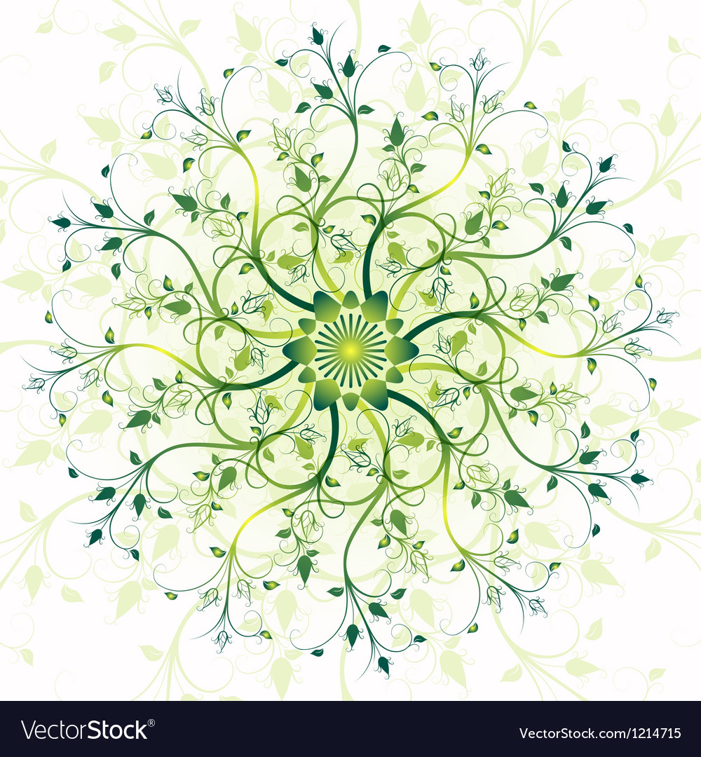 Spring vintage pattern vector | Price: 1 Credit (USD $1)