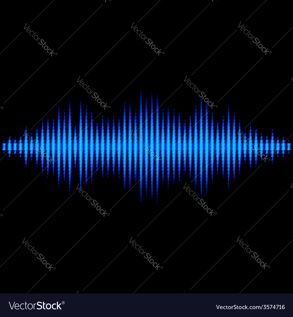 Blue sound waveform with triangular light filter vector | Price: 1 Credit (USD $1)
