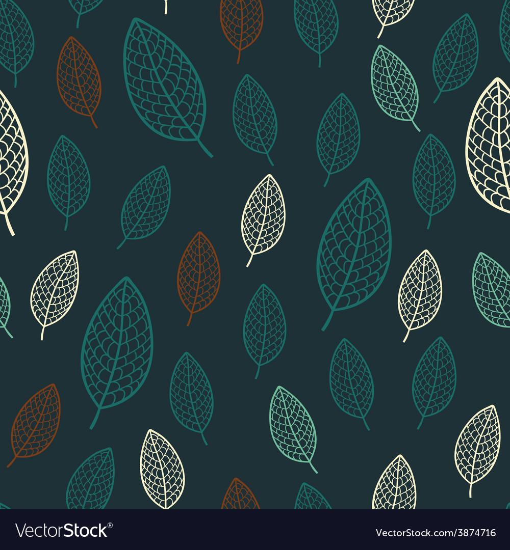 Dark stylish floral seamless pattern vector | Price: 1 Credit (USD $1)