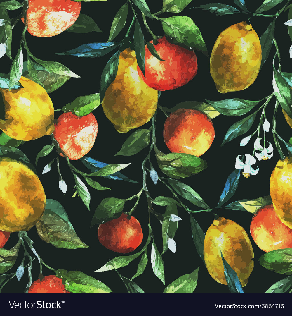 Lemons and oranges vector