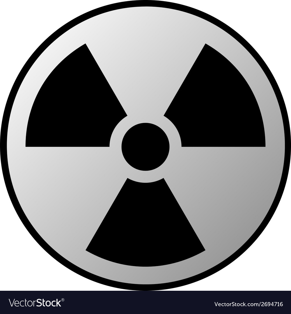 Radiation sign button vector | Price: 1 Credit (USD $1)