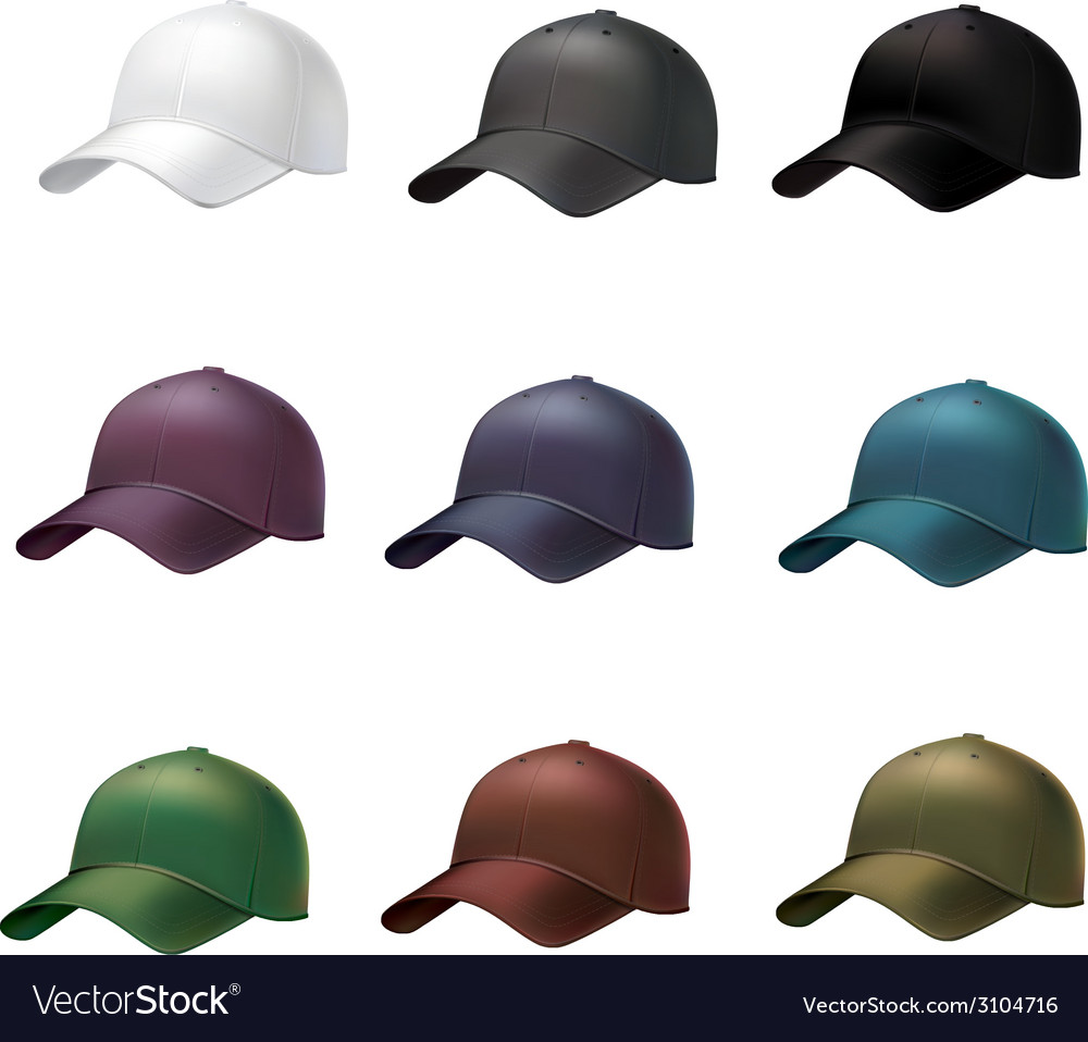 Realistic baseball cap vector | Price: 1 Credit (USD $1)