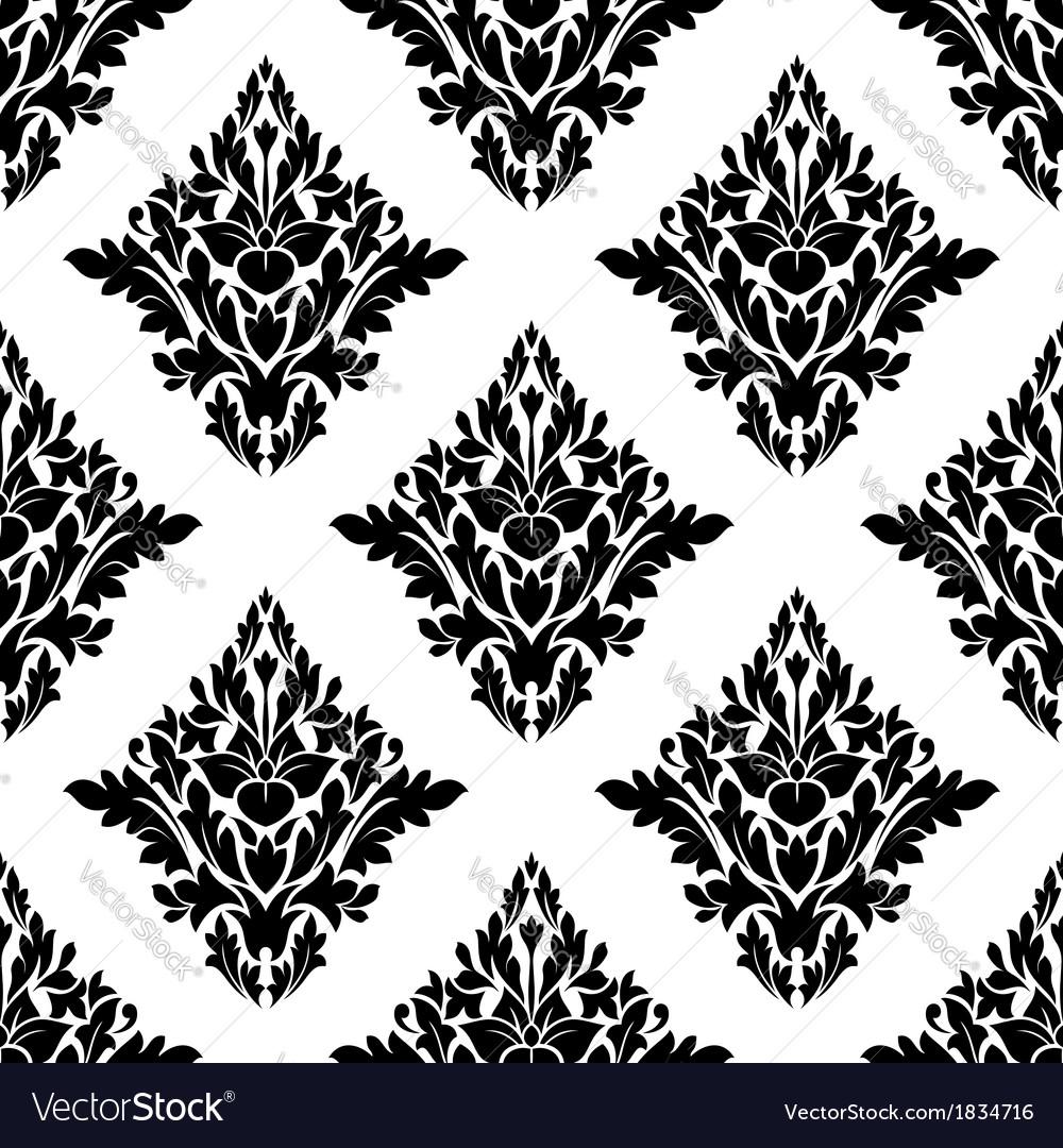 Seamless arabesque pattern in diamond shape vector | Price: 1 Credit (USD $1)
