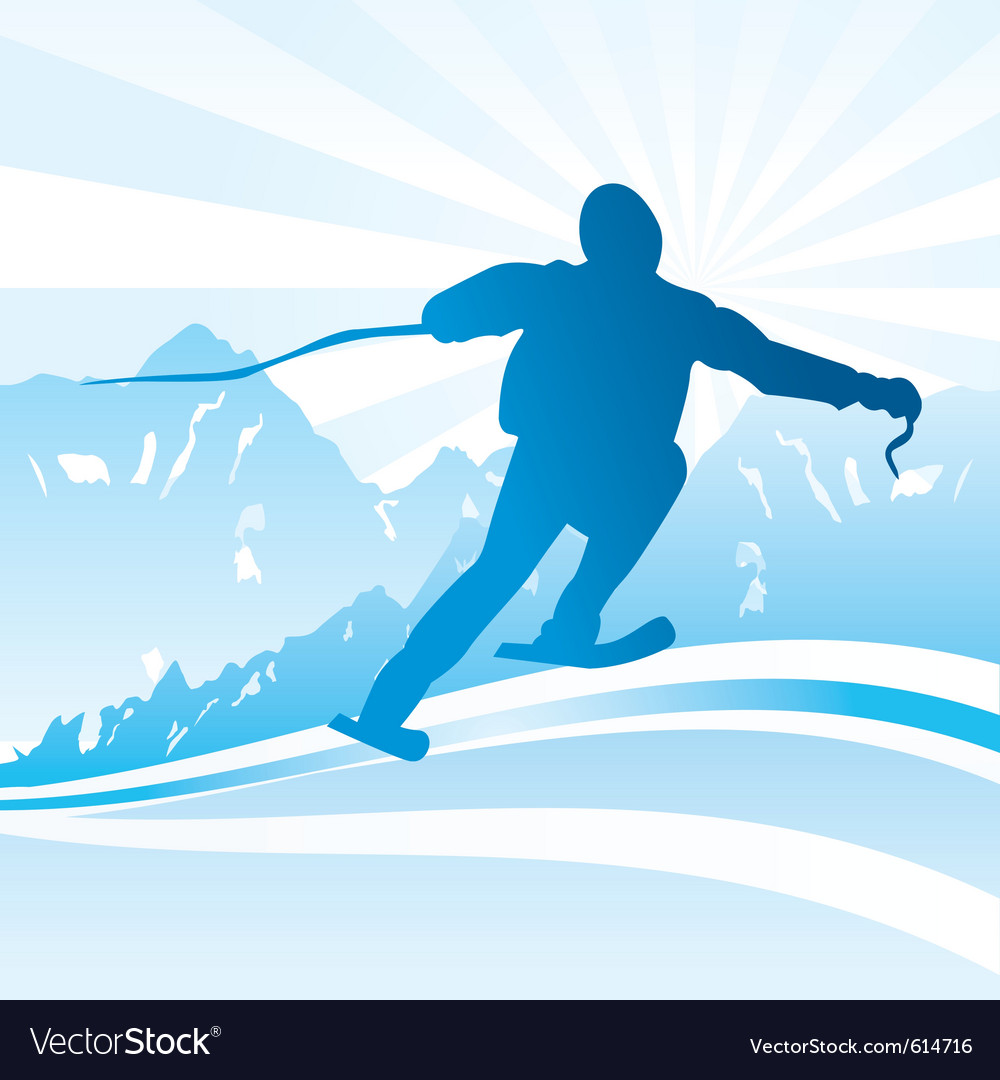 Ski and sport background vector | Price: 1 Credit (USD $1)