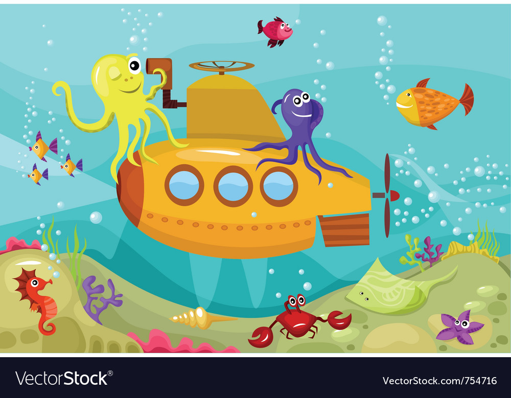 Submarine vector | Price: 3 Credit (USD $3)