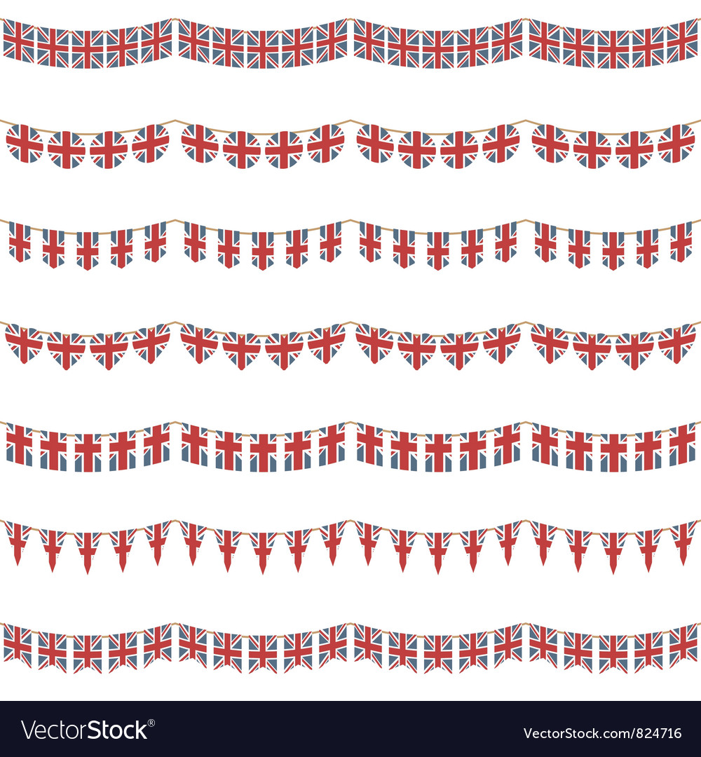 Uk party bunting vector | Price: 1 Credit (USD $1)
