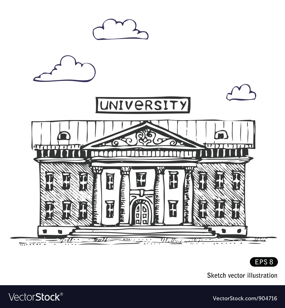 University building vector | Price: 1 Credit (USD $1)