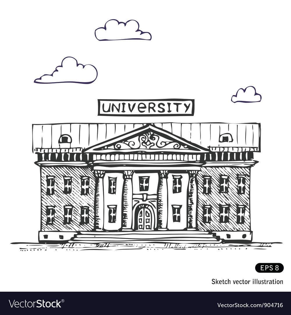 University building vector | Price: 1 Credit (USD $1)