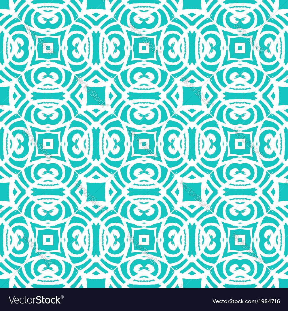 Vintage art deco pattern in aqua blue vector | Price: 1 Credit (USD $1)