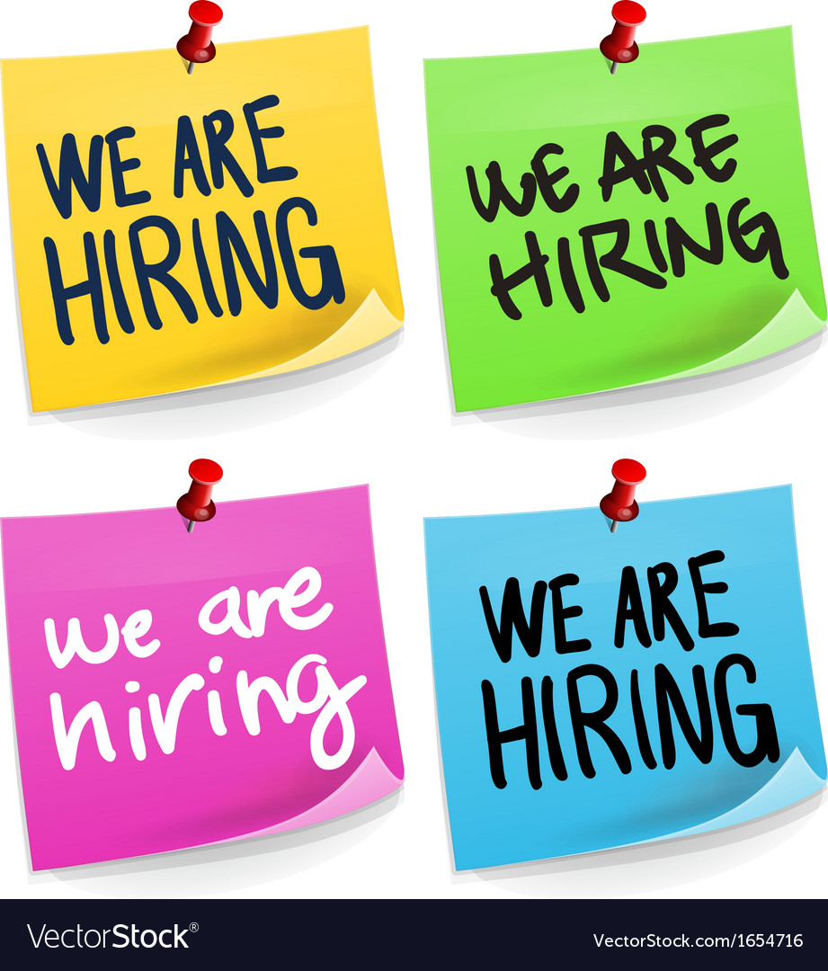 We are hiring sticky note vector   Price: 1 Credit (USD $1)