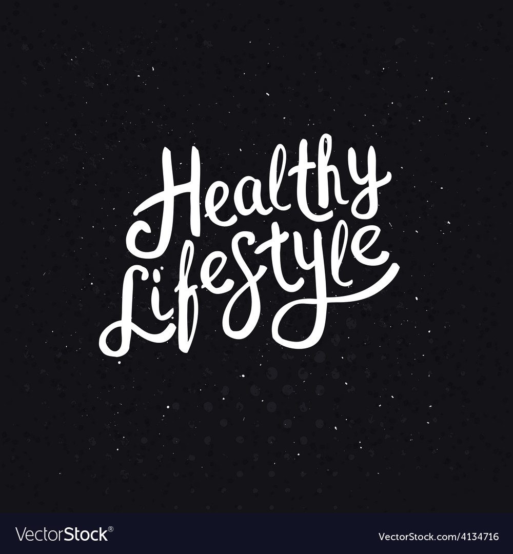 White healthy lifestyle phrase on abstract black vector | Price: 1 Credit (USD $1)