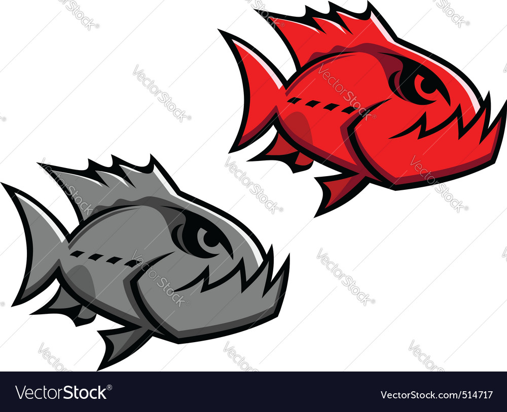 Danger piranha vector | Price: 1 Credit (USD $1)