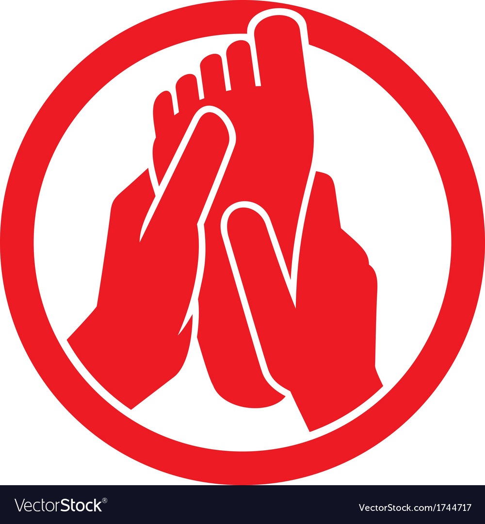Foot massage symbol vector | Price: 1 Credit (USD $1)