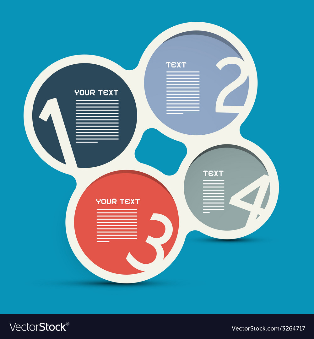 Four steps circle infographic layout - template vector | Price: 1 Credit (USD $1)