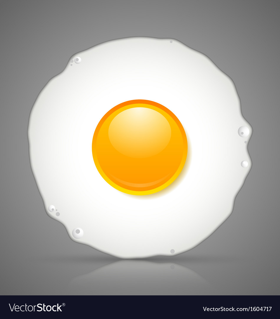 Fried egg icon vector | Price: 1 Credit (USD $1)