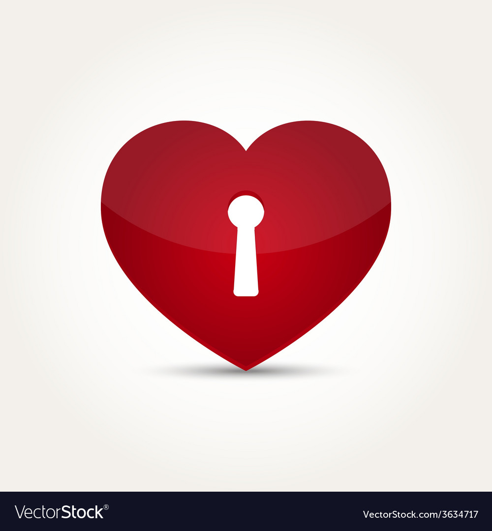 Love heart lock security concept vector | Price: 1 Credit (USD $1)