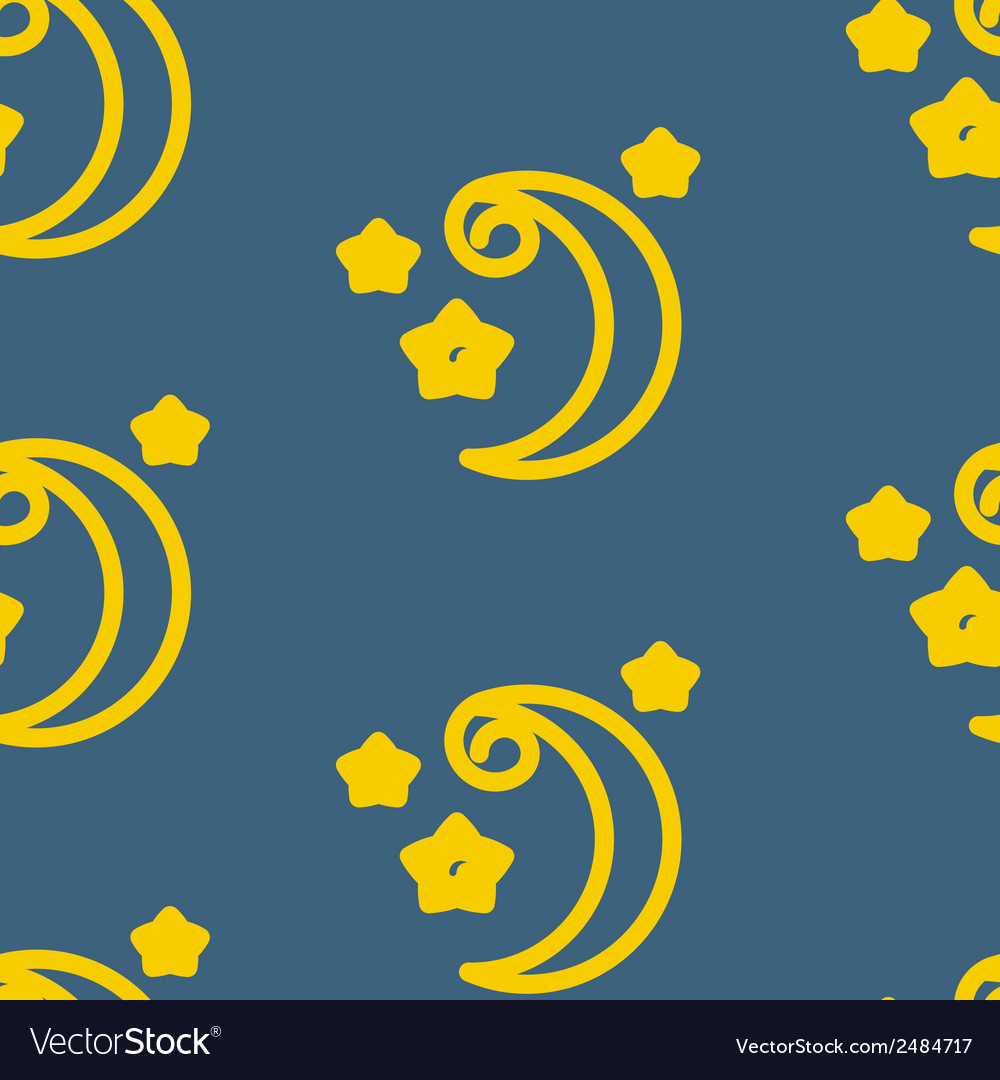 Moons pattern vector | Price: 1 Credit (USD $1)