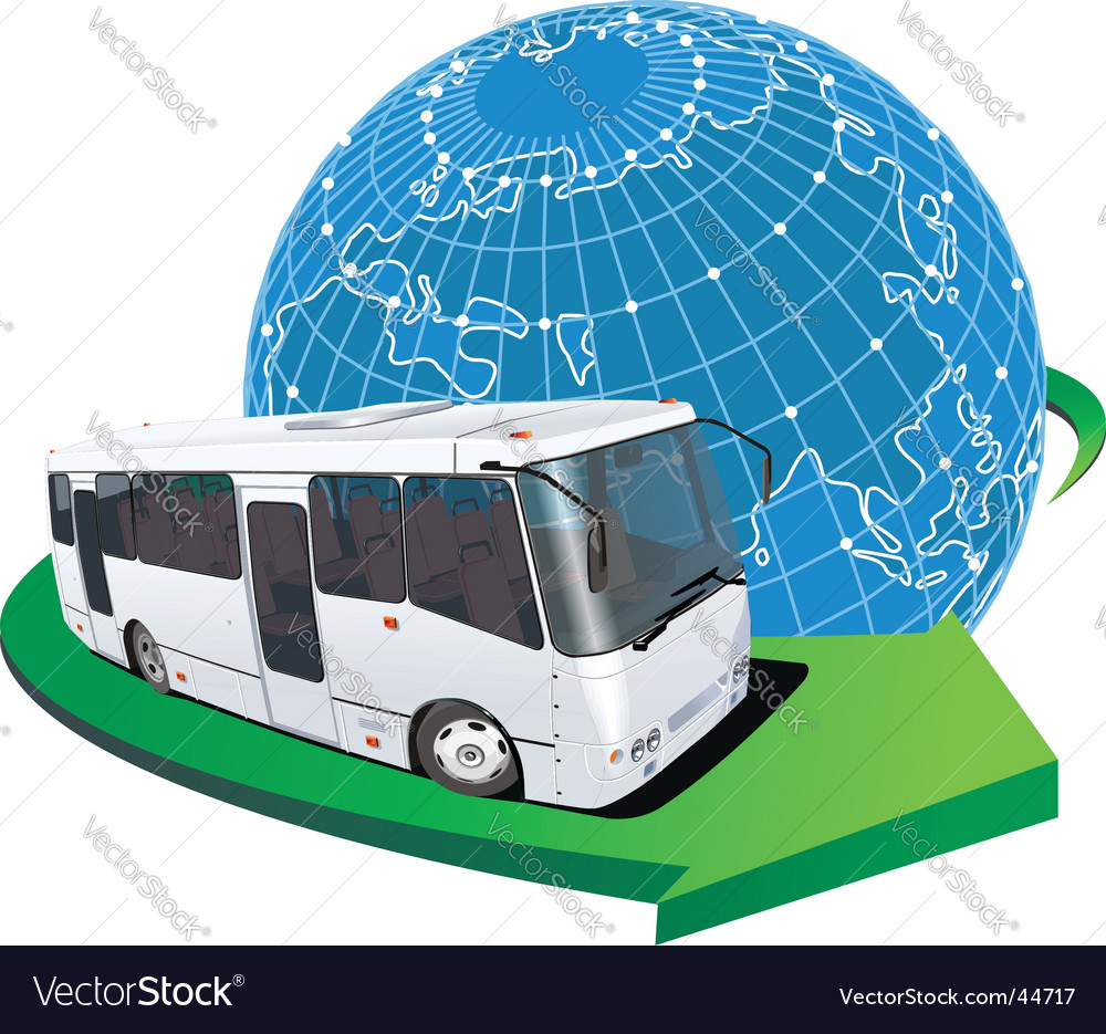 Tourist bus travel vector | Price: 5 Credit (USD $5)