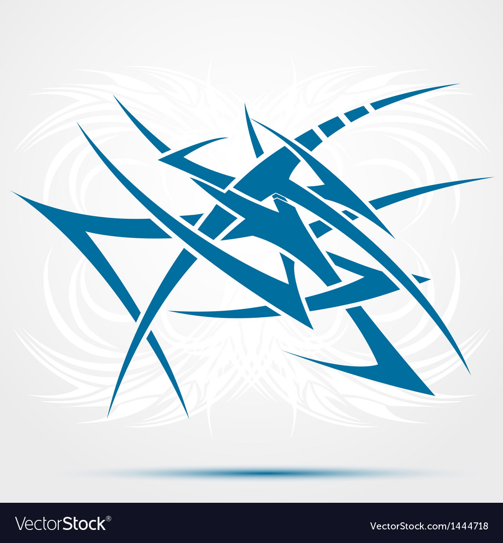 Abstract blue tattoo vector | Price: 1 Credit (USD $1)