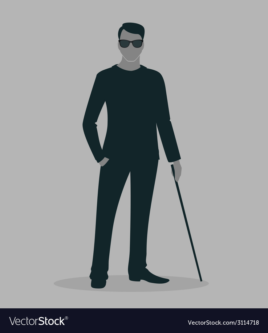 Blind man vector | Price: 1 Credit (USD $1)