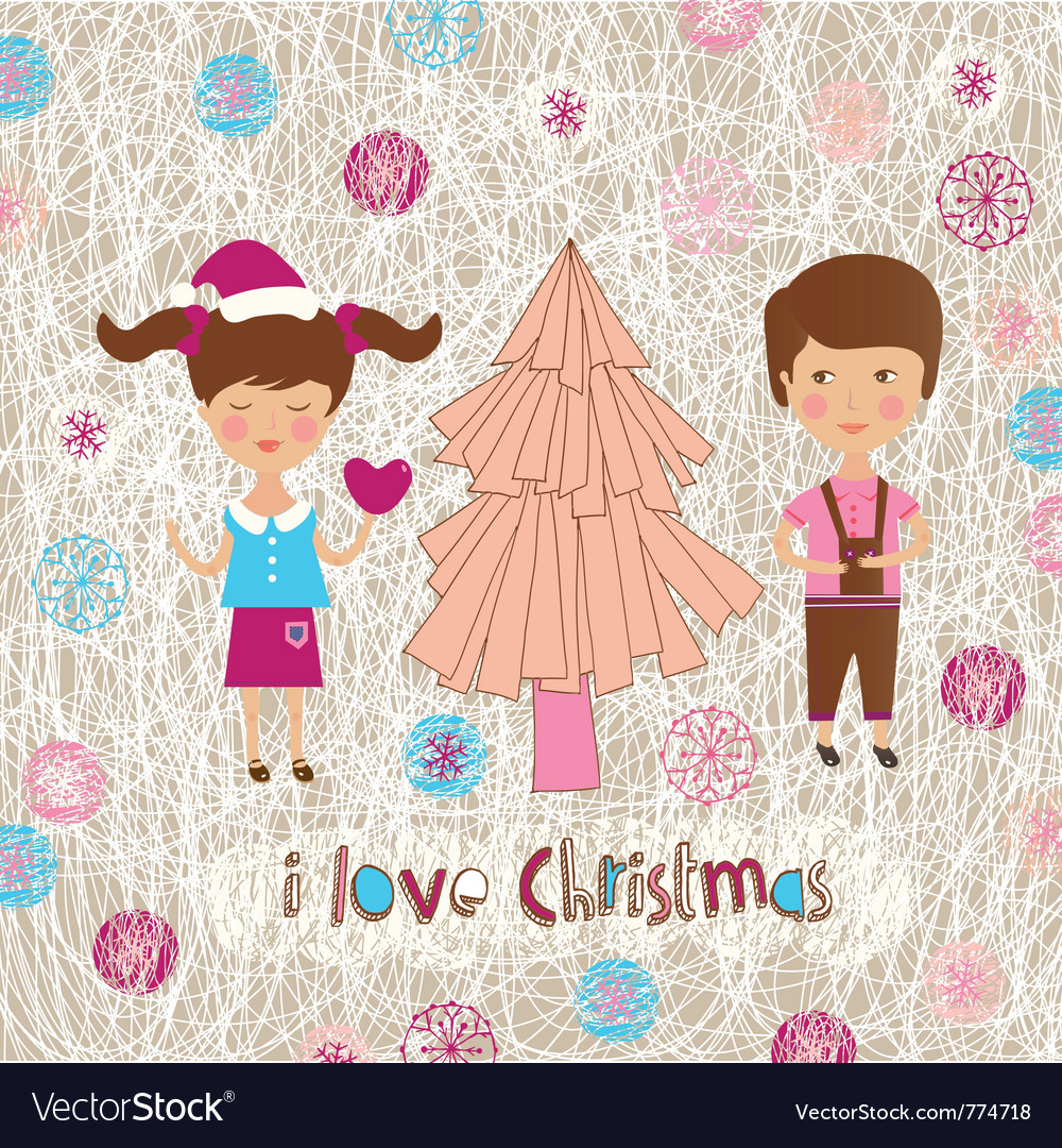 Family christmas love vector | Price: 1 Credit (USD $1)