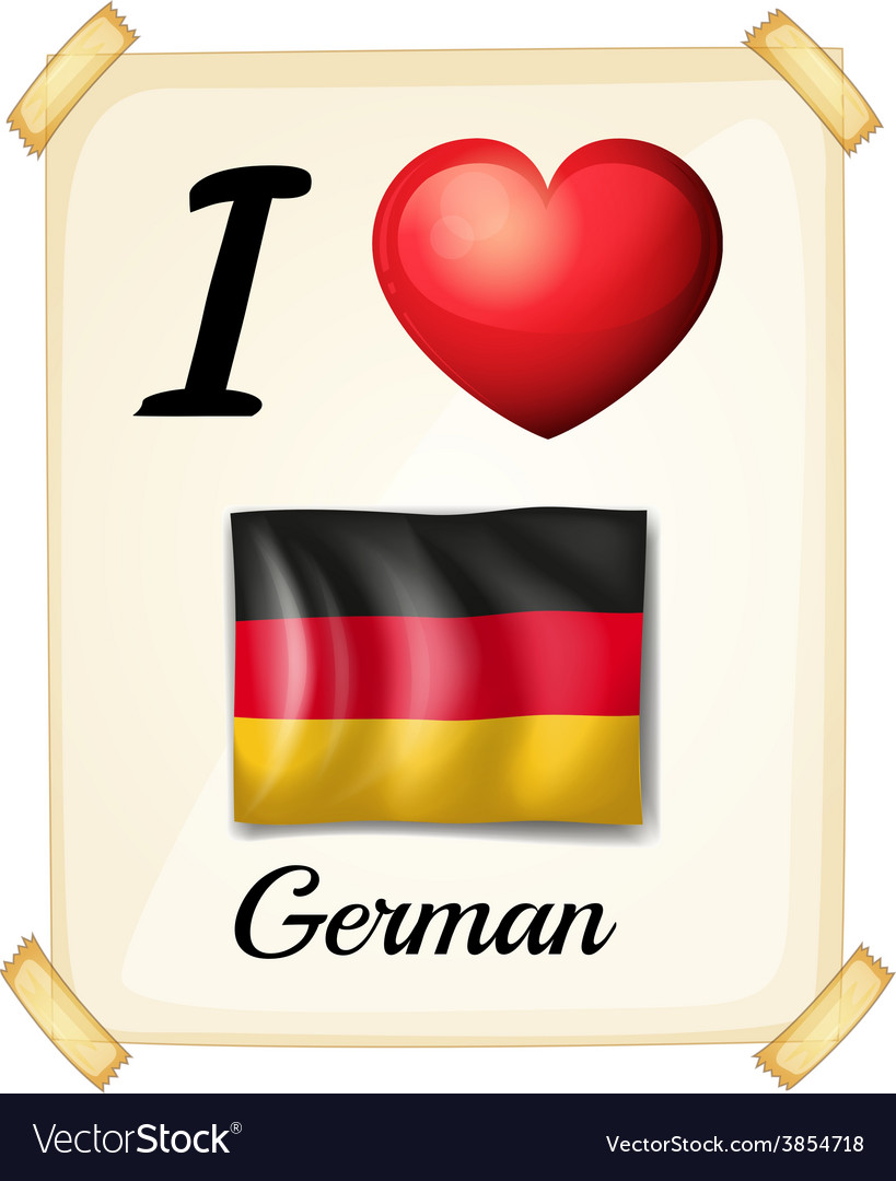 I love german vector | Price: 1 Credit (USD $1)