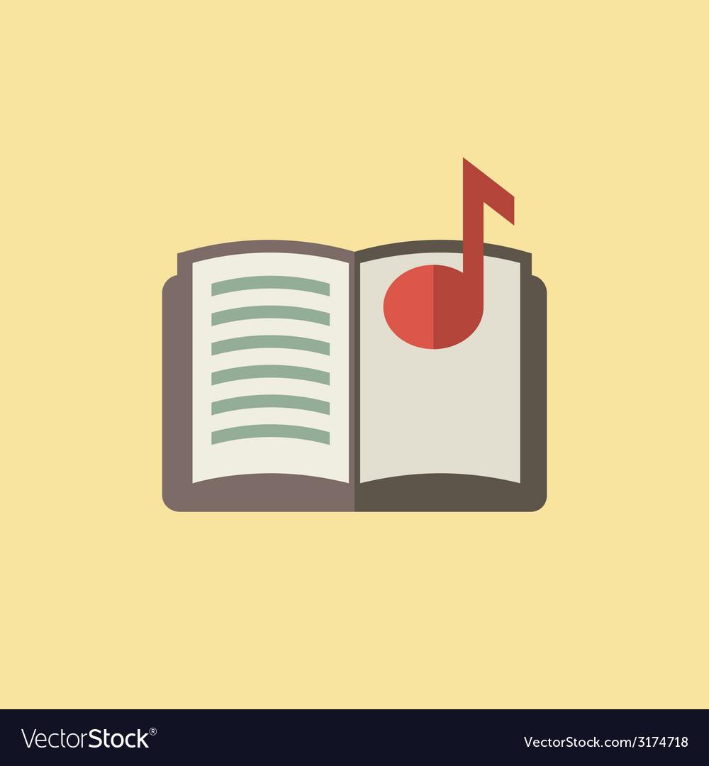 Music book icon vector | Price: 1 Credit (USD $1)