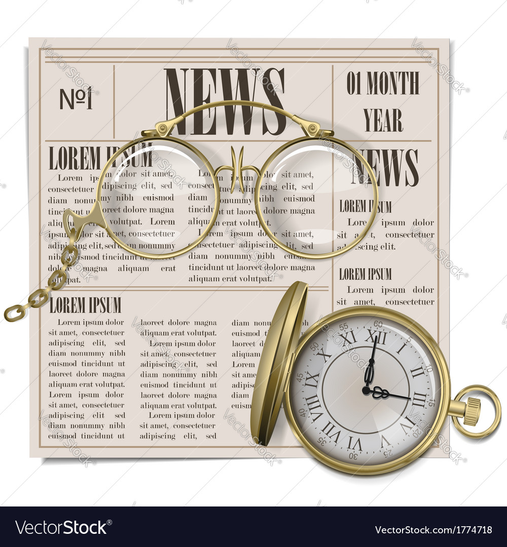 Retro newspaper concept vector | Price: 3 Credit (USD $3)