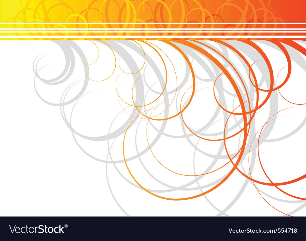 Swirl background in orange color vector | Price: 1 Credit (USD $1)
