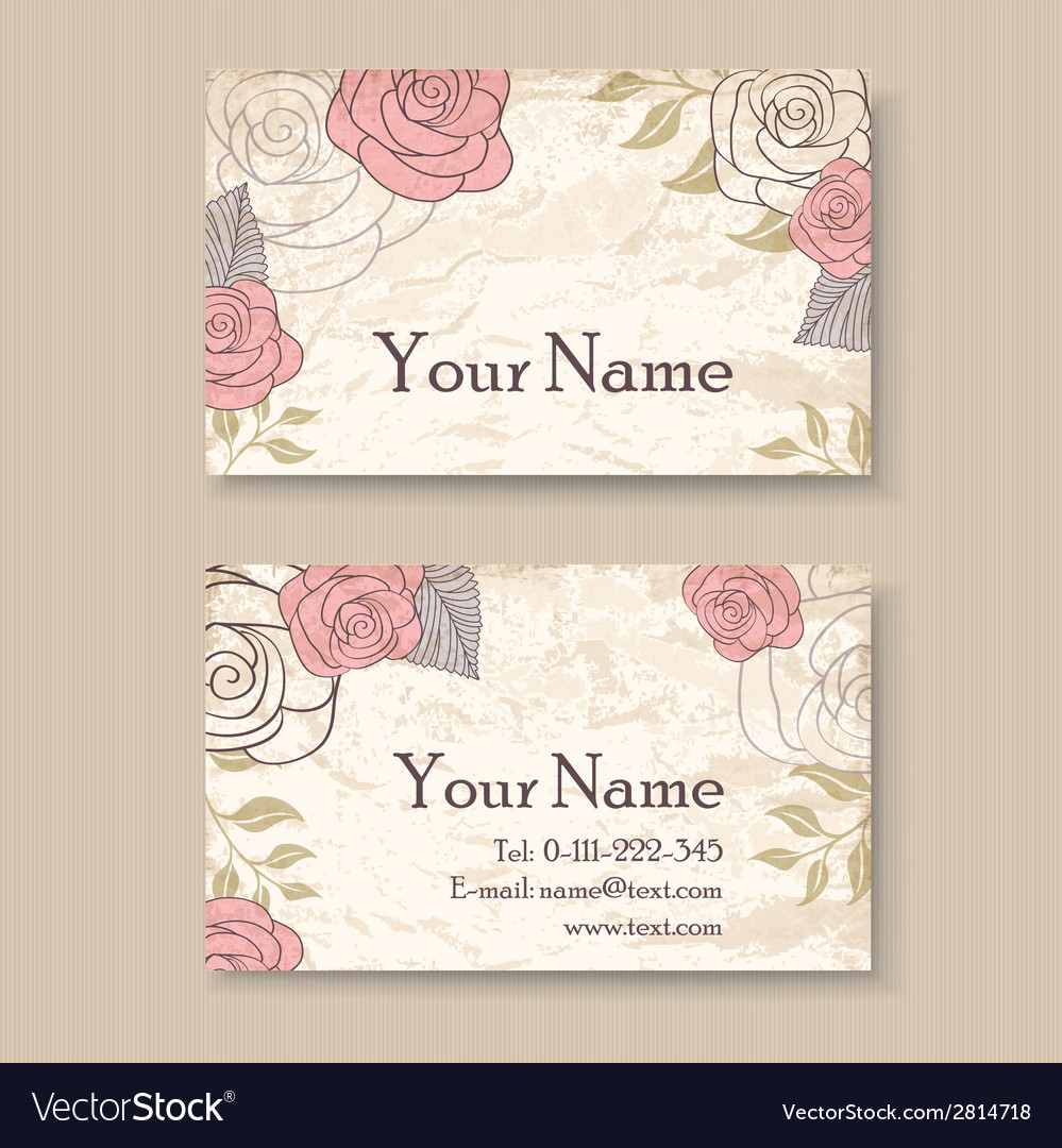 Vintage card with roses vector | Price: 1 Credit (USD $1)