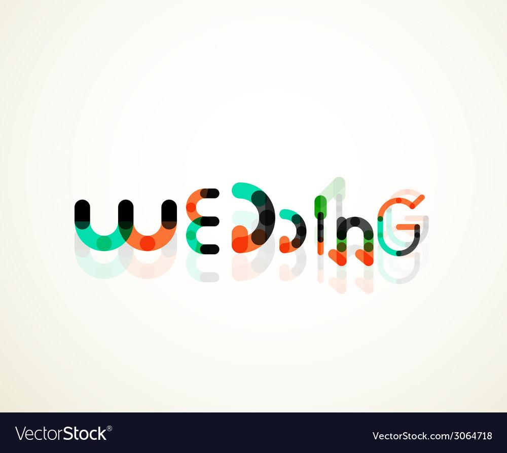Wedding word font concept design vector | Price: 1 Credit (USD $1)