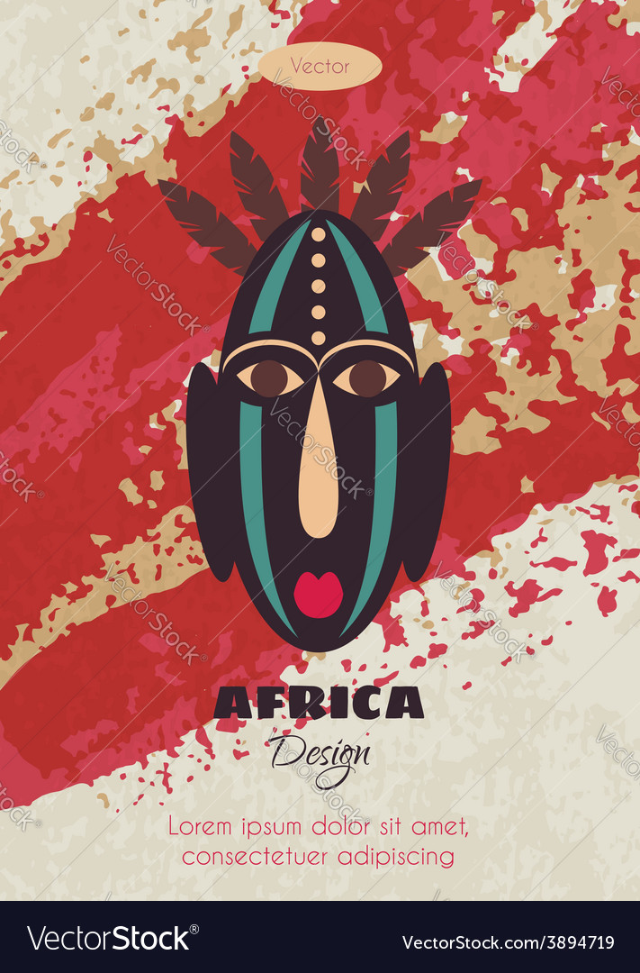 African tribal mask vector   Price: 1 Credit (USD $1)