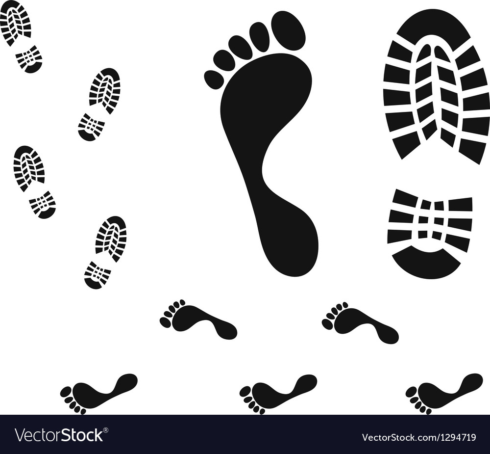 Footprint vector | Price: 1 Credit (USD $1)