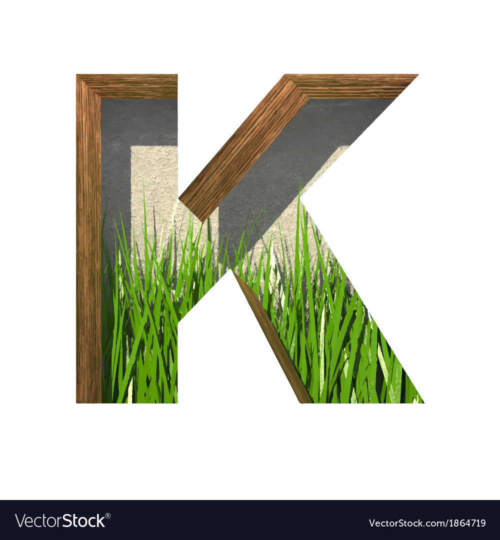 Grass cutted figure k paste to any background vector | Price: 1 Credit (USD $1)