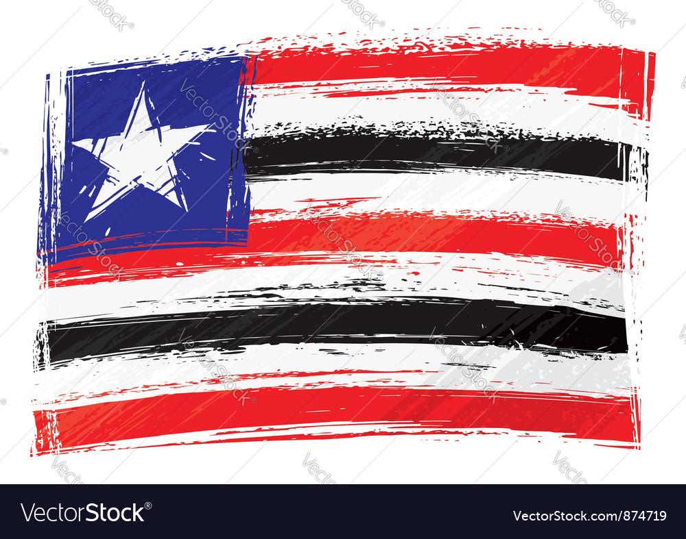 Grunge maranhao flag vector