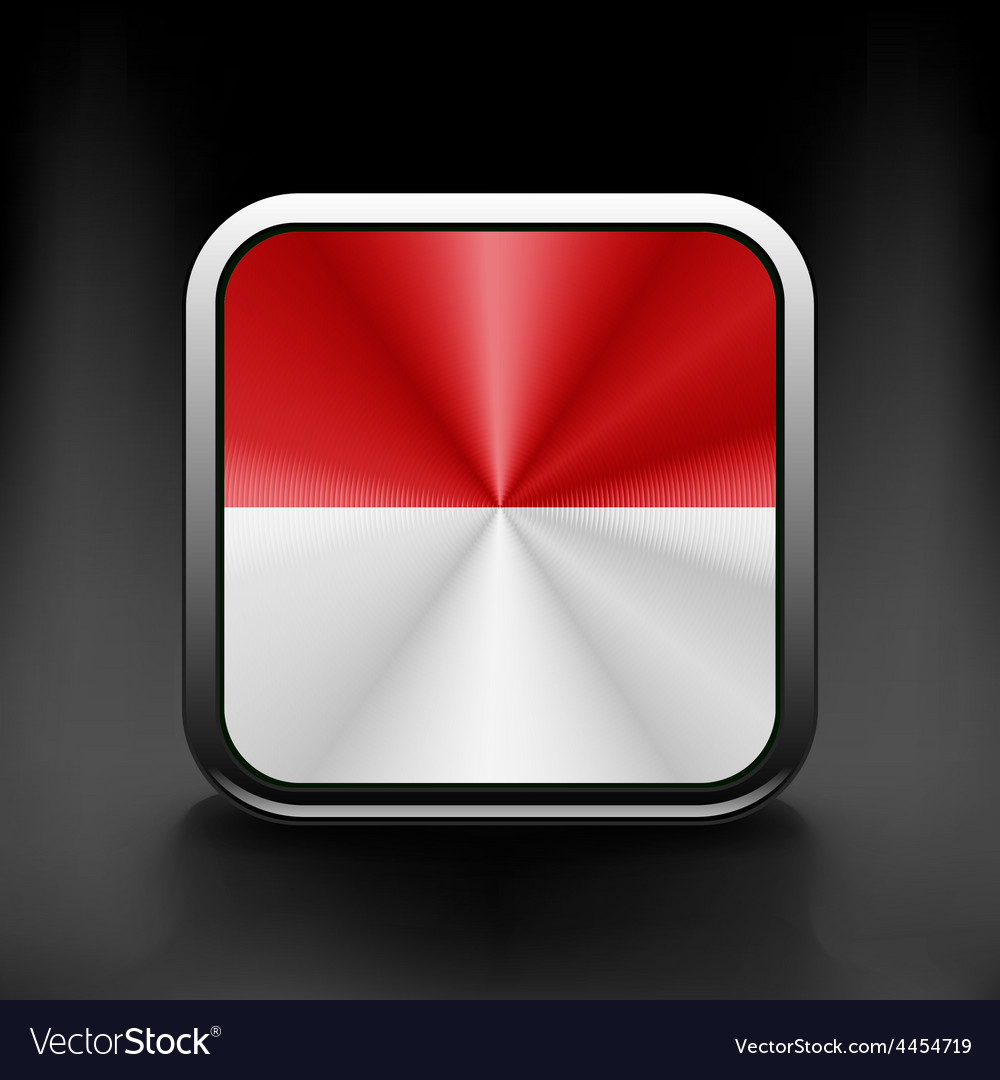 Indonesia icon flag national travel icon country vector | Price: 1 Credit (USD $1)