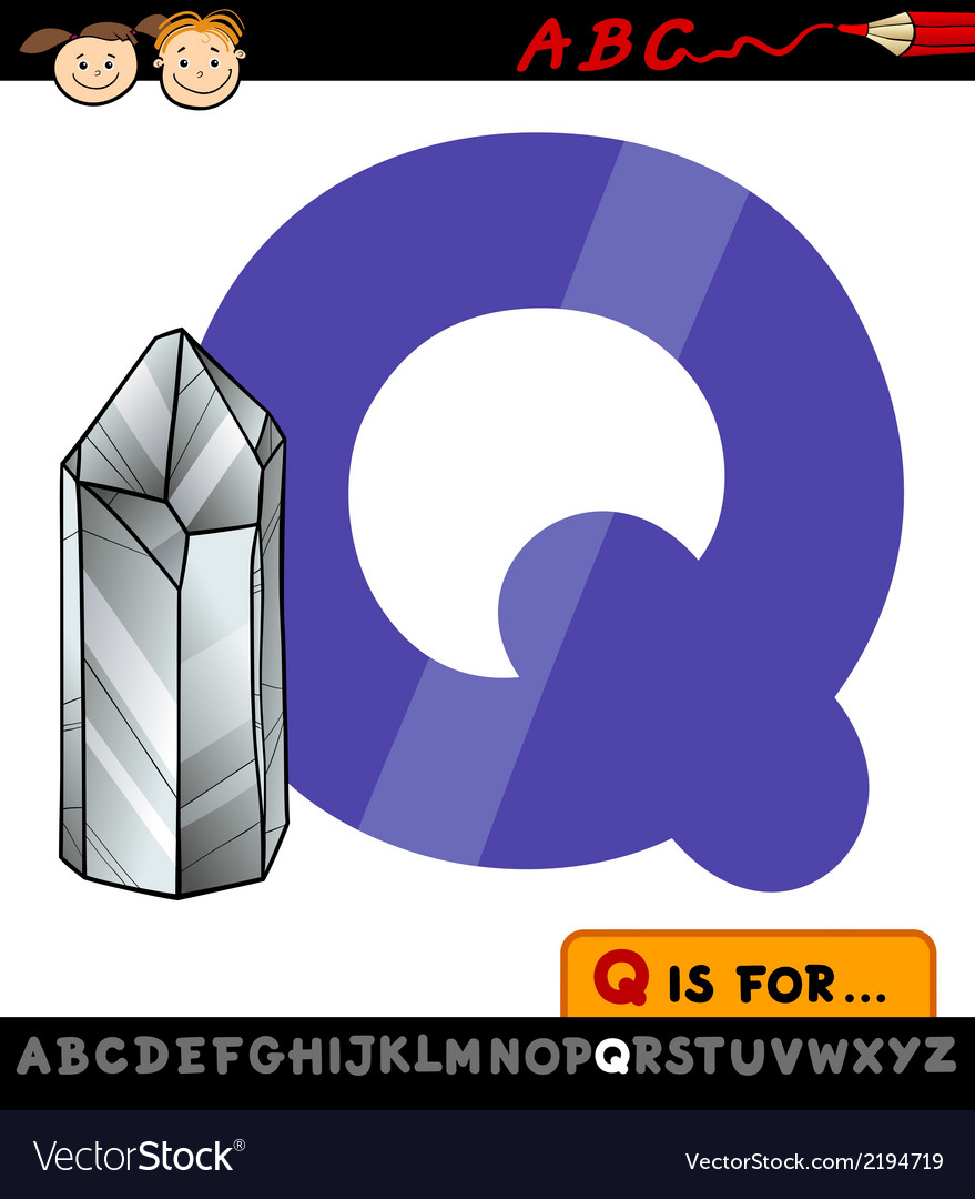 Letter q with quartz vector | Price: 1 Credit (USD $1)