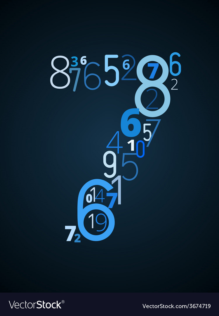 Number 7 font from numbers vector | Price: 1 Credit (USD $1)
