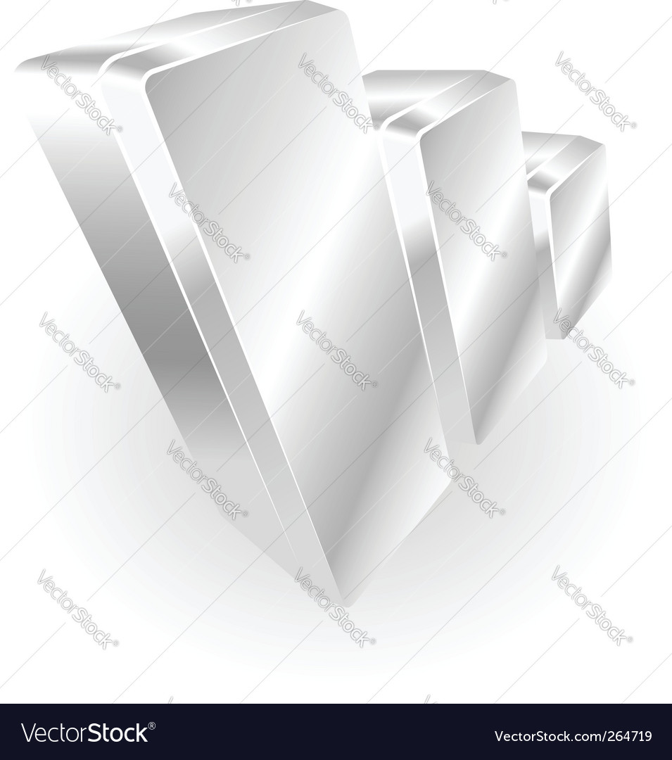 Silver metallic graph vector | Price: 1 Credit (USD $1)