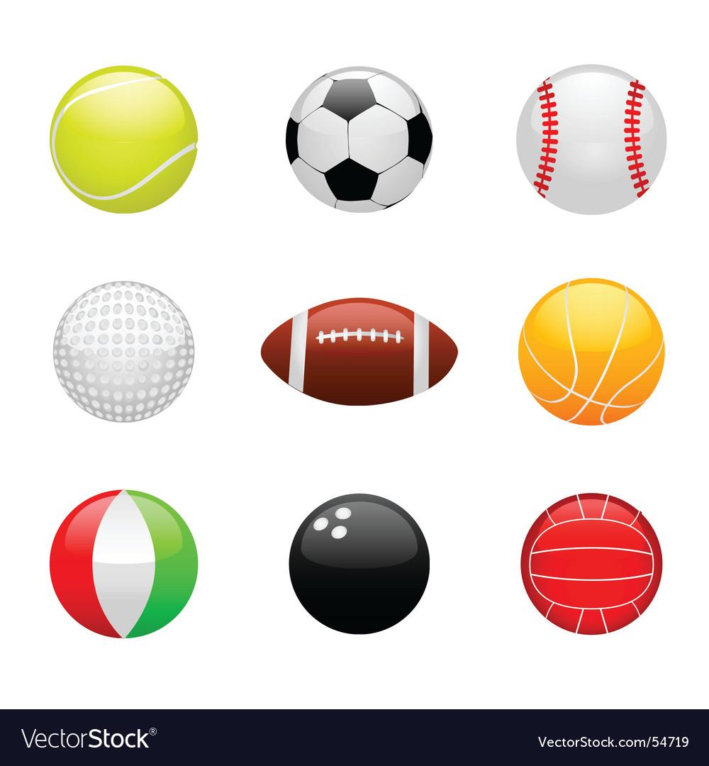 Sport balls vector | Price: 1 Credit (USD $1)