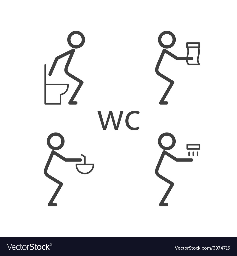 Toilet situation icon vector | Price: 1 Credit (USD $1)