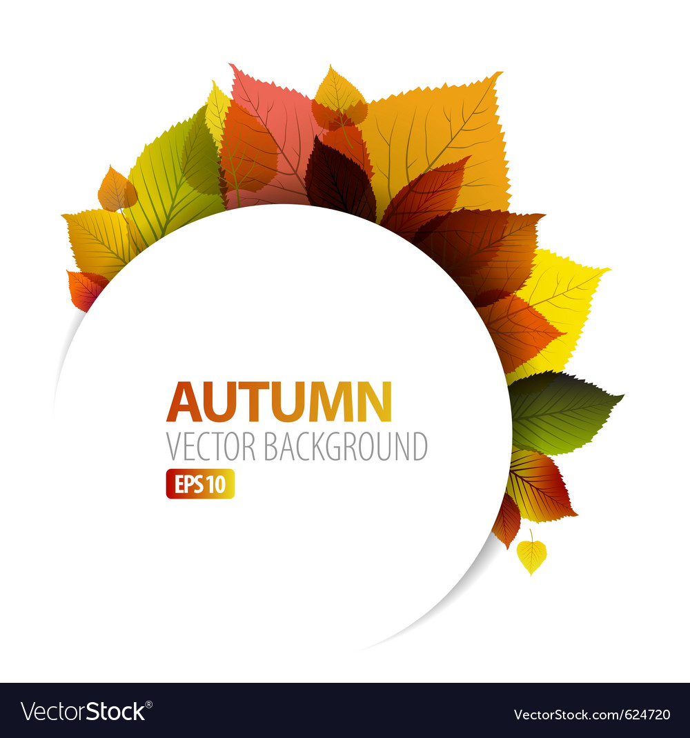 Autumn floral background vector | Price: 1 Credit (USD $1)