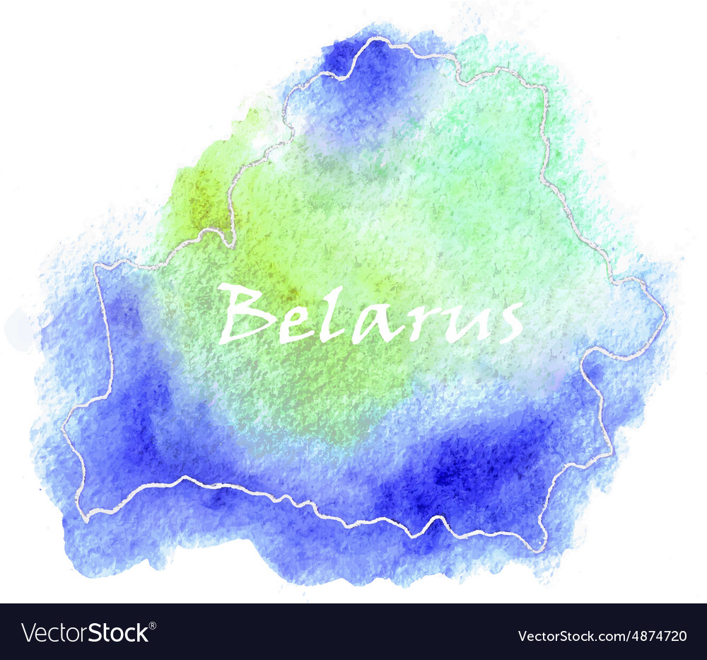 Belarus watercolor map vector