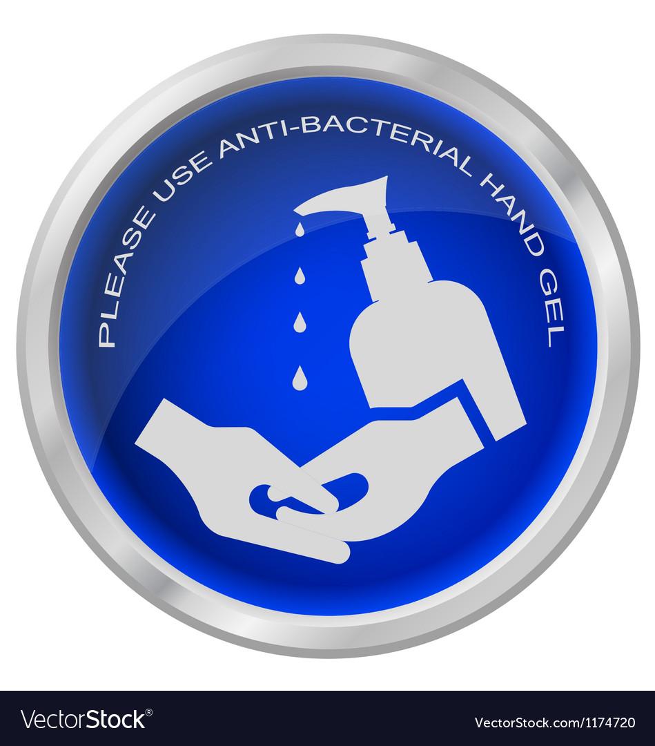 Hand gel vector