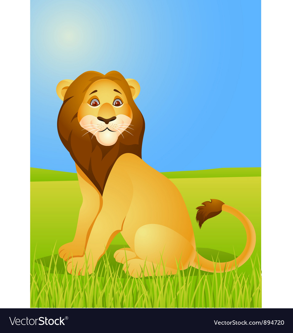 Lion cartoon vector | Price: 3 Credit (USD $3)