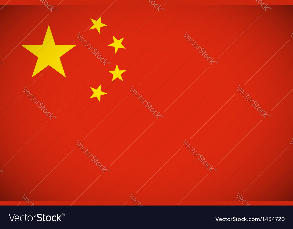 National flag of china vector | Price: 1 Credit (USD $1)