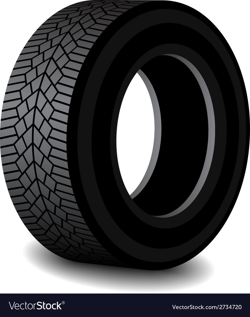 Rubber tyre with shadow vector | Price: 1 Credit (USD $1)